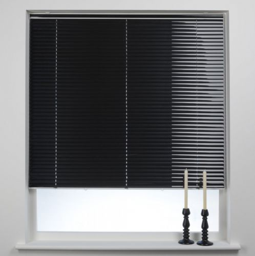 Swish Cordless 25mm Aluminium Venetian Blind - Piano Black
